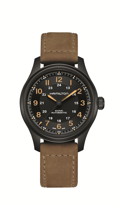 Khaki Field Titanium Auto Watch