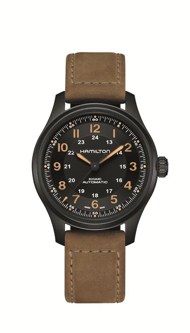 Khaki Field Titanium Auto Watch