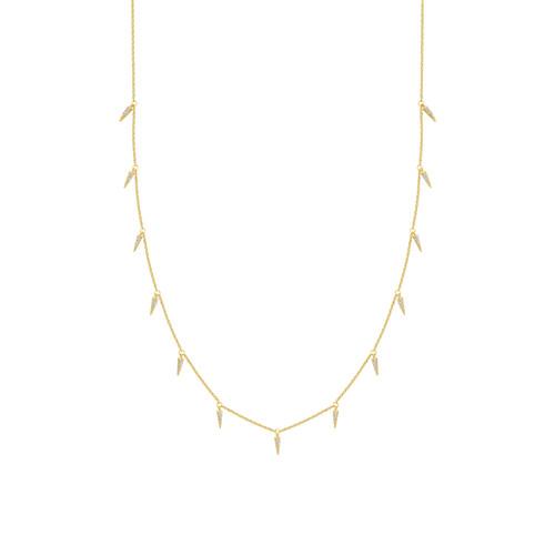 Adjustable Diamond Dagger Necklace