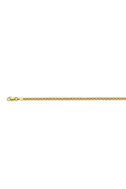 14KT 2.5mm Hollow Rolo Chain