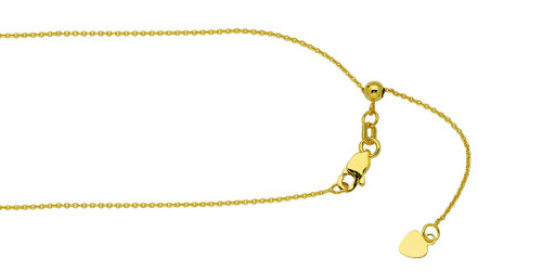 14KT Adjustable Cable Link Chain