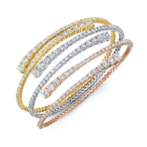 Diamond Soft Flexible Spiral Bracelet
