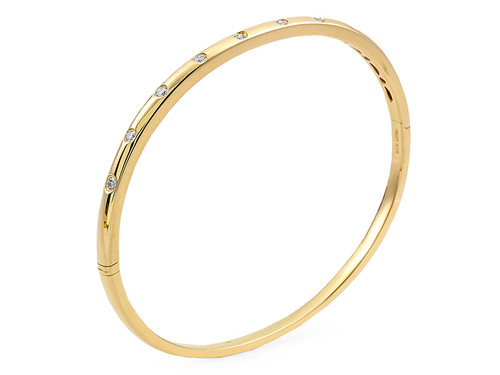 9 Diamond Bangle Bracelet