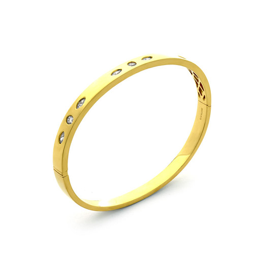 Trio Diamond Set Bangle