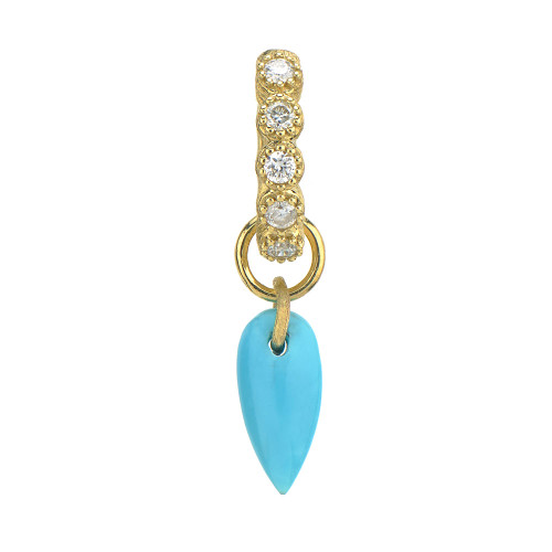 Petite Inverted Pear Shape Turquoise Charm