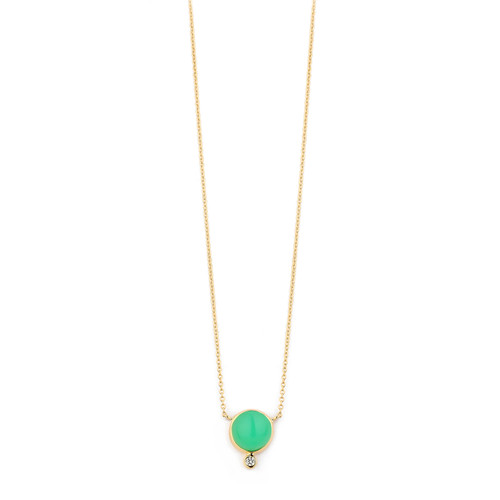 Chrysoprase & Diamond Baubles Necklace