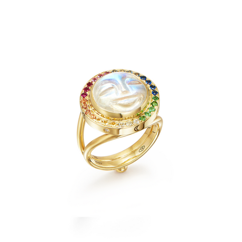 Moonface Rainbow Ring
