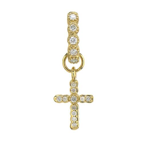 Petite Pave Cross Charm