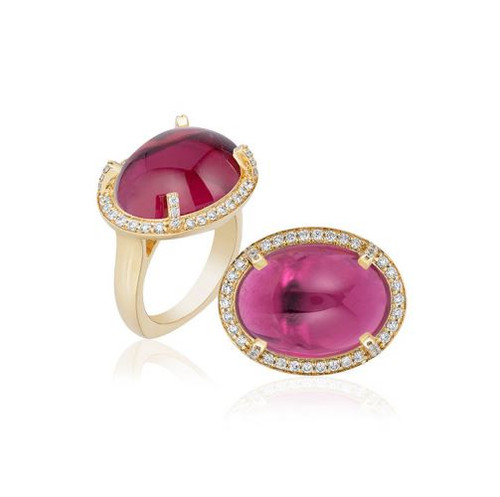 """G-One"" Pink Tourmaline Ring"