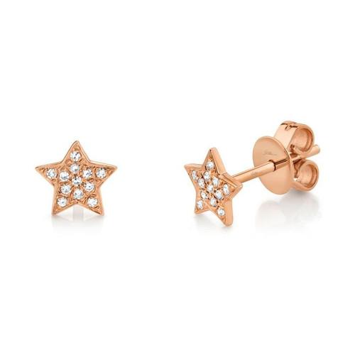 14KT Petite Star Stud Earrings