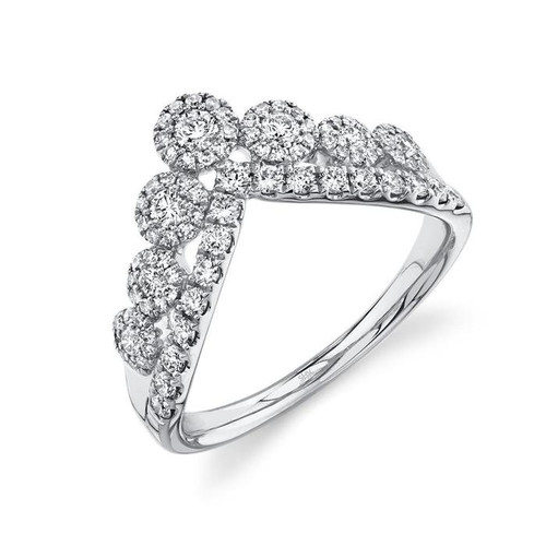 Diamond Halo V Ring