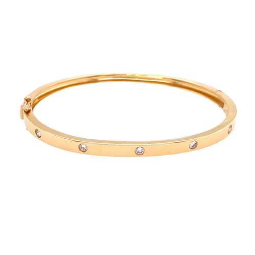 5 Diamond Inlay Bangle