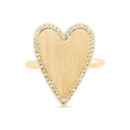 Large Diamond Heart Ring
