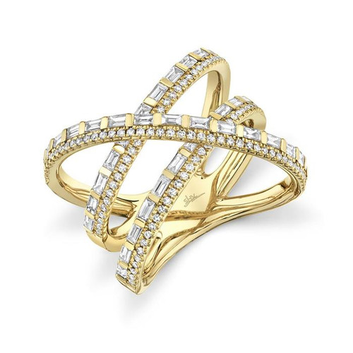 Baguette Diamond Bridge Ring