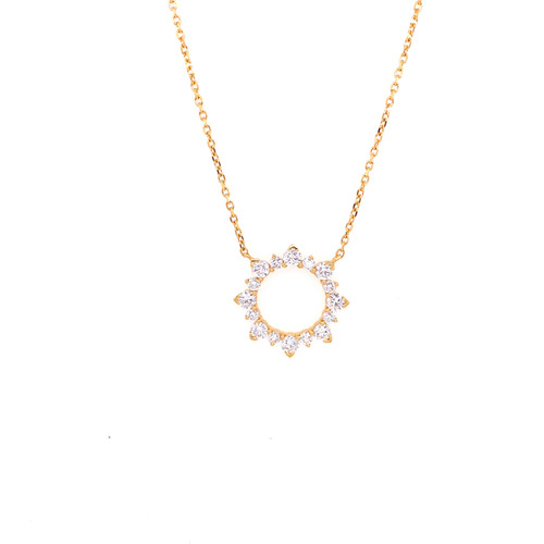 Open Circle Sunburst Necklace