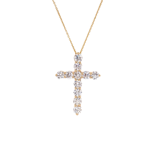 Diamond Cross Chain Necklace