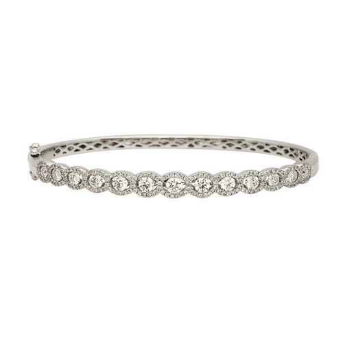 Pave Halo Diamond Bangle