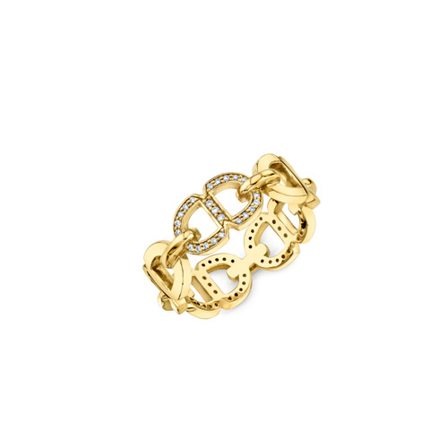 14KT Pave Chain Link Eternity Band