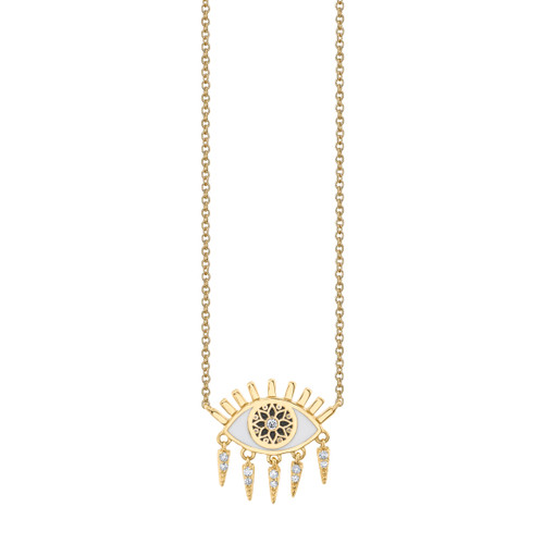 Kaleidoscope Eye Fringe Necklace