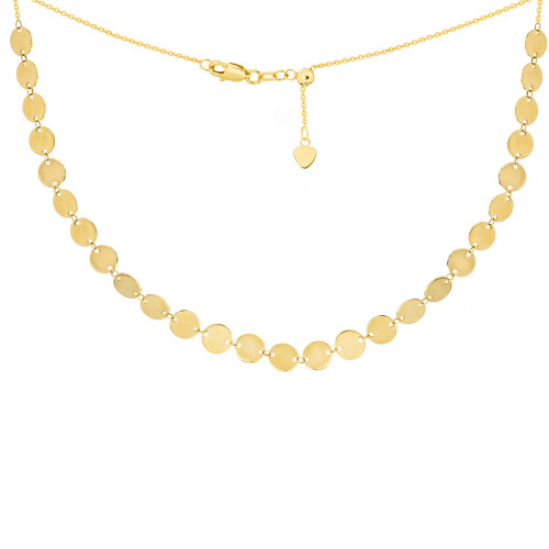 14KT Mini Disc Choker Necklace