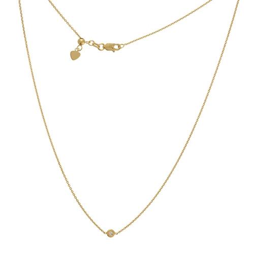 14KT Diamond Bezel Choker Necklace