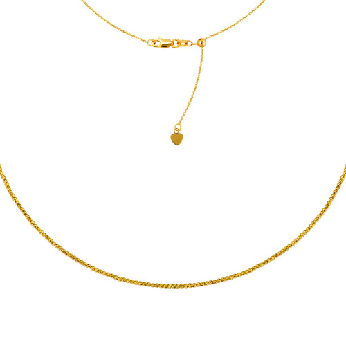 14KT Diamond Cut Bead Necklace