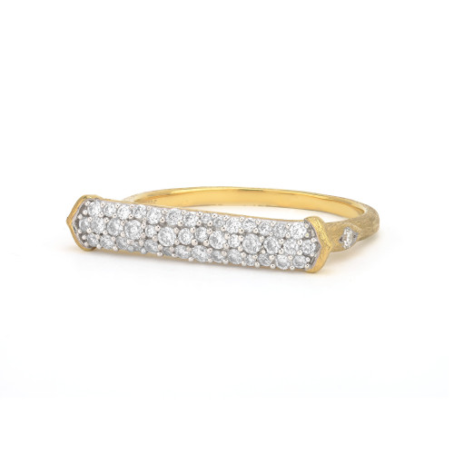 Jude Frances Moroccan Triple Pave East West Bar Ring