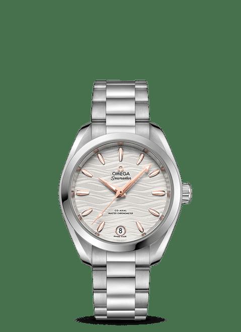 Seamaster Aqua Terra 150M Omega Co-Axial Master Chronometer 34 mm Silver Dial