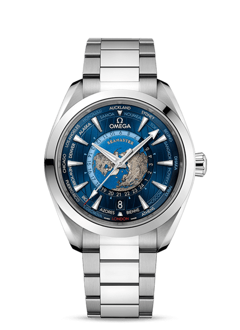 Seamaster Aqua Terra 150M Omega Co‑Axial Master Chronometer Gmt Worldtimer 43 mm