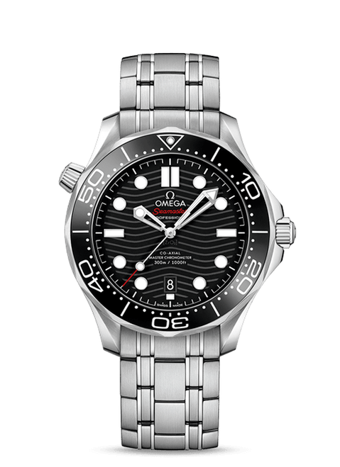 Seamaster Diver 300M Omega Co-Axial Master Chronometer 42 mm Black Ceramic Dial