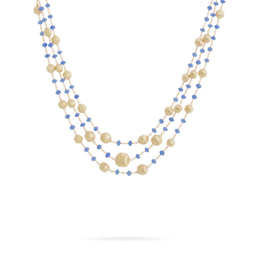 Africa Sapphire Three Strand Necklace