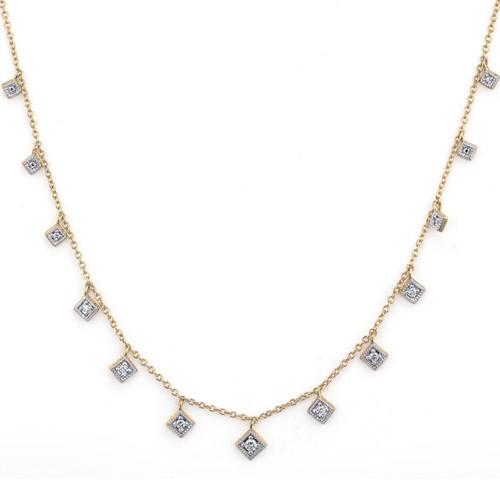 18KT Lisse Dancing Diamonds Kite Necklace