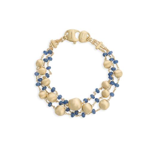 Africa Sapphire Three Strand Bracelet