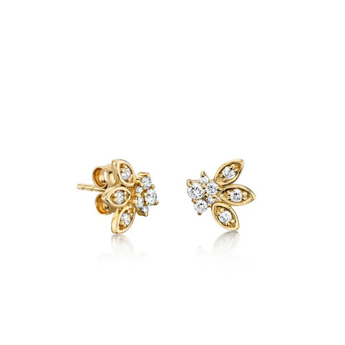 Marquis Petal Stud Earrings