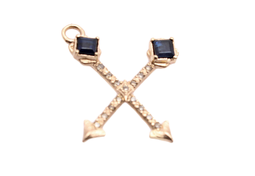 Crossed Arrows Charm