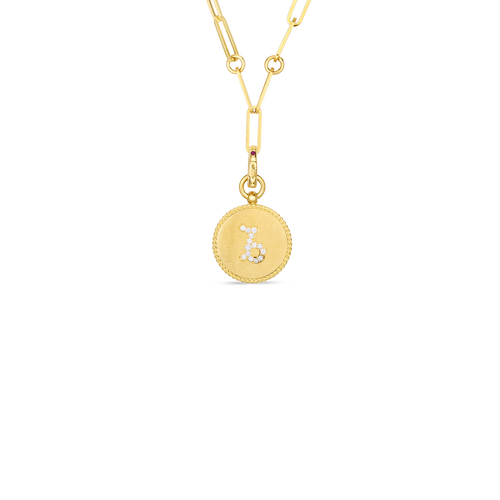 Zodiac Medallion Charm Necklace