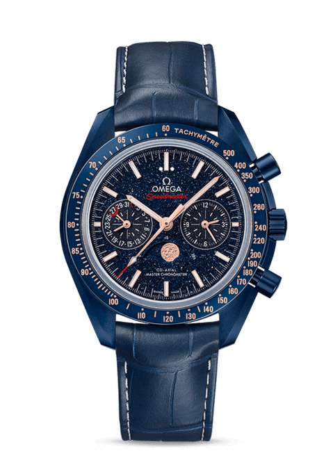 Speedmaster Moonwatch Omega Co-Axial Master Chronometer Moonphase Chronograph  44.25 mm with Blue Dial