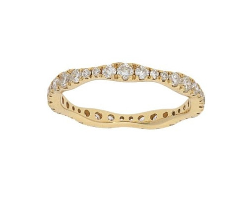 14KT Graduating Diamond Stacking Eternity Band