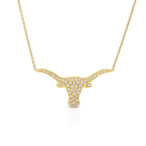 Large Diamond Longhorn Necklace