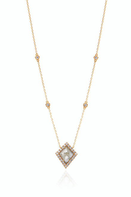 18KT Diamond Slice Kite Necklace