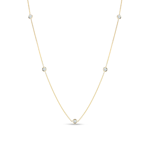 18KT Diamond Station Necklace