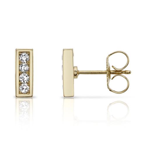 18KT Pave Monet Stud Earrings