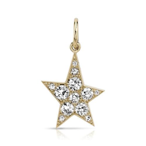 18KT Small Kinsley Cobble Star Pendant