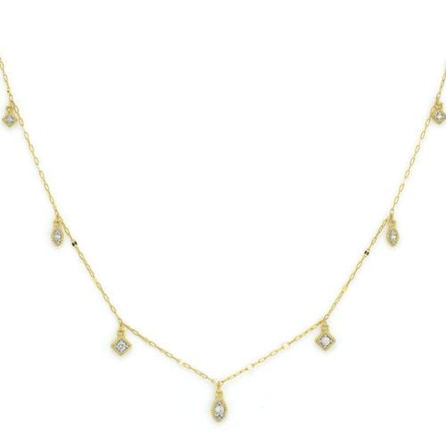 Petite Dancing Diamond Kite Chain Necklace