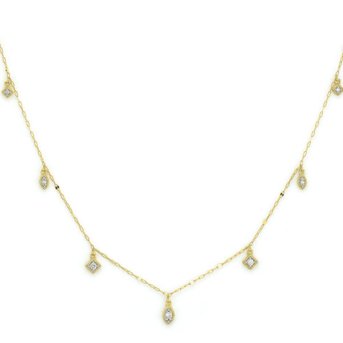 Petite Dancing Diamond Kite Chain Necklace