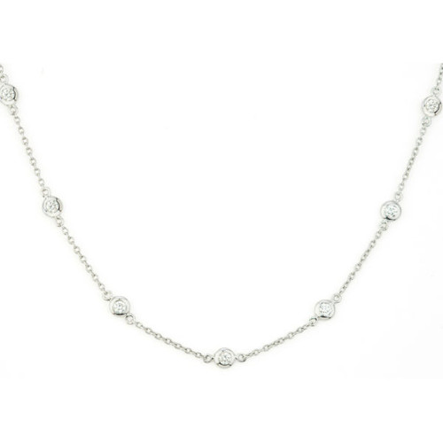 18KT Diamonds by the Yard Necklace