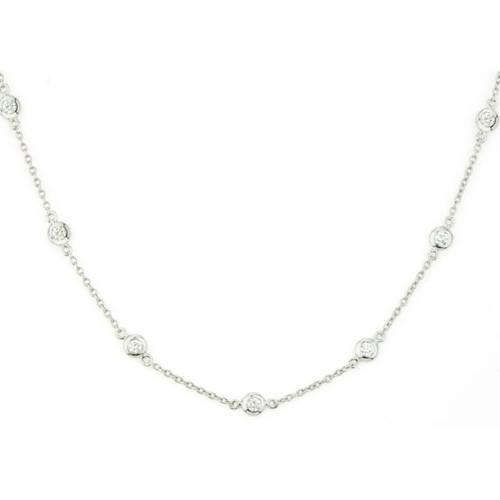 18KT Diamonds by the Yard Necklace
