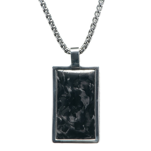 Carbon Pinnacle Dog Tag Necklace