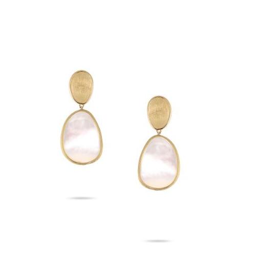 18KT Petite Lunaria Double Drop Earrings