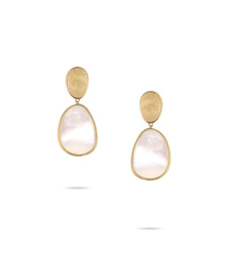 18KT Petite Lunaria Double Drop Earrings